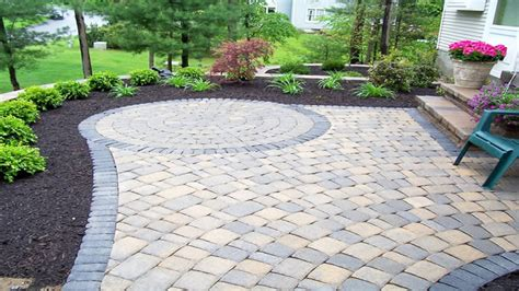 Laying Landscape Pavers Driveway Brick Paver Patio Patio Concrete Pavers