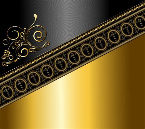 Decoration Background Black Gold Abstract #1QT0