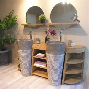 Incroyable Appliques Salle De Bain #2: meuble-de-salle-de-bain-en-teck-florence-double-180cm-gris.jpg