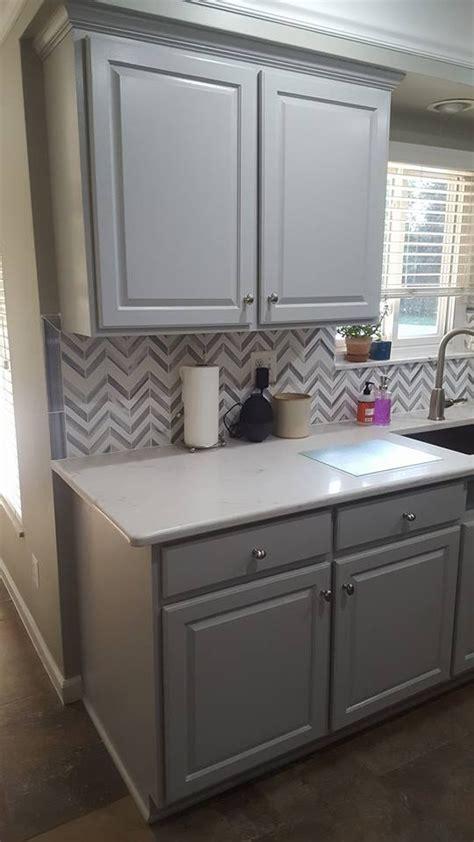 golden oak  seagull gray kitchen transformation