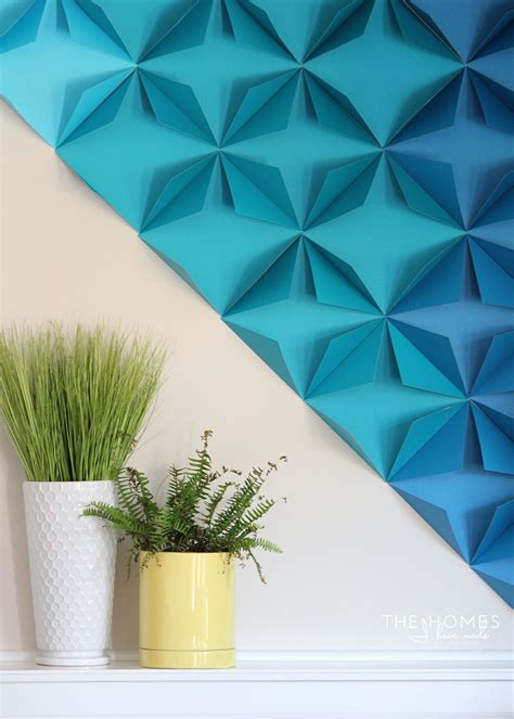 Inexpensive Diy Home Decor by Renter Friendly 3d Paper Wall Art