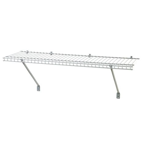 white wire rack shelving shop closetmaid 3 ft x 12 in white wire shelf at lowes