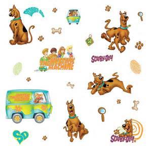 Room Mates Wall Stickers scooby doo removable decals potty training concepts