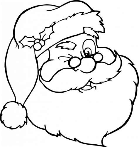 coloring page santa face face santa claus coloring page of santa claus coloring