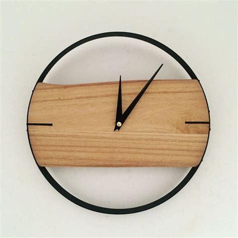 wood clock pinjeas natural wall clock brief style wooden wall clock
