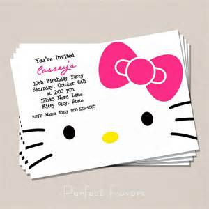 hello kitty invitation 5 00 via etsy party hello