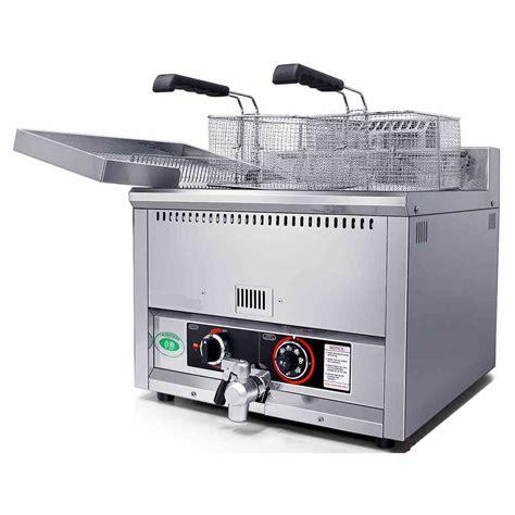 Fryer Gas Butterfly 6 Liter 17l commercial countertop gas fryer gas potato chips fryer gas fryer machine in food