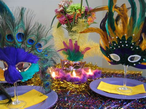 mardi gras table setting ideas oh my creative