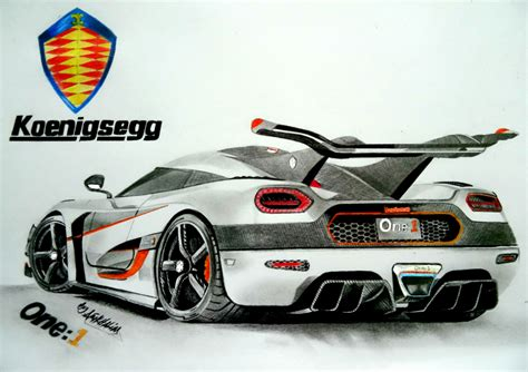 koenigsegg one 1 logo koenigsegg agera one 1 pencil drawing by neveramez on