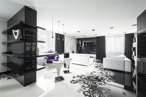 home interior decorating ideas 2 furniture graphic dise 241 o de moderno apartamento en color blanco y negro