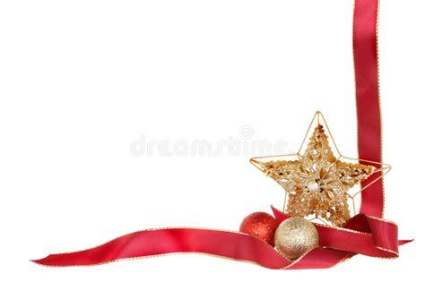 gold ribbon themes christmas border stock image image of theme festive