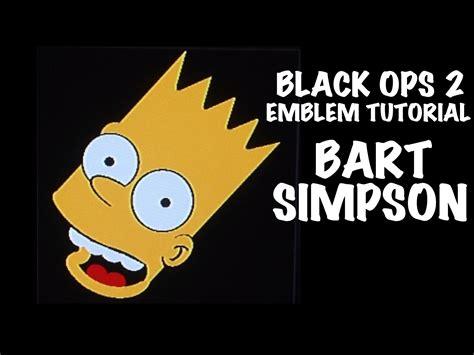 tutorial logo emblem black ops 2 emblem tutorial bart simpson youtube