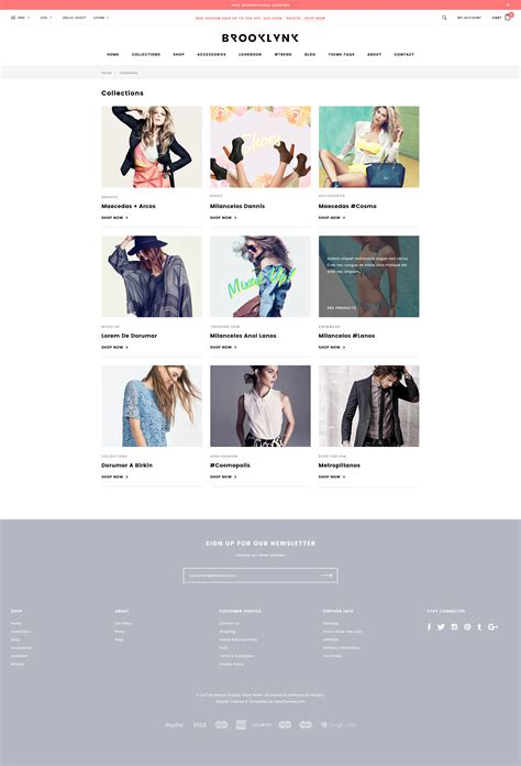 shopify themes clothing brooklynk responsive fashion shopify template sections
