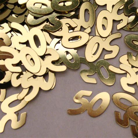 gold 50 table confetti 50th anniversary gold confetti