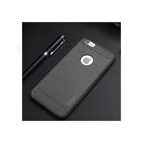 Softcase Ipaky Carbon Fiber Iphone 6 6s Plus Rubbercapsulecase6 ipaky drop proof brushed tpu cover for iphone 6s plus 6