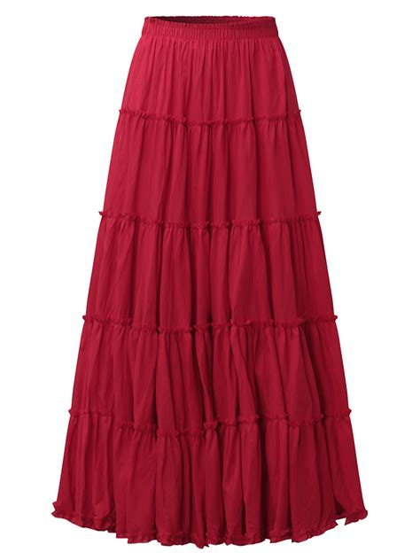 pleated color casual maxi skirts alex nld