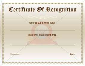 Employee Recognition Certificates Templates Free Certificate Of Recognition Template Best Business Template