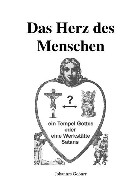Gossner, Johannes - Das Herz des Menschen. Die Sieben