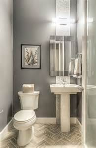 Powder Room Tile Designs Modern Powder Room With Ceramic Tile By Green St
