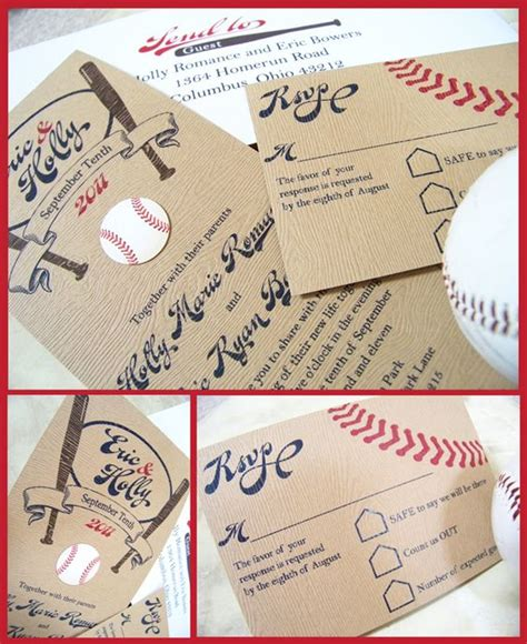 Baseball Wedding Invites by 17 Best Images About Ej S Baseball Invitations Response