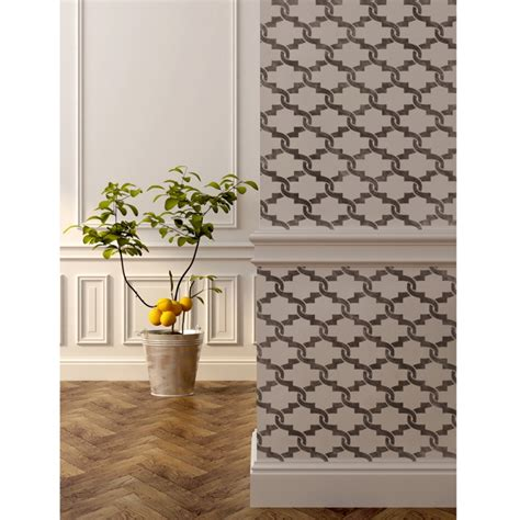 Decorative Wall Trellis Wall Moroccan Stencil Elisamarie Trellis Allover For Wall