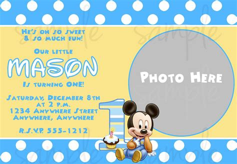 mickey mouse birthday invitation template birthday pinterest