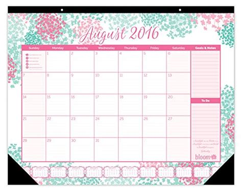 academic year desk calendar bloom daily planners 2016 17 academic year desk calendar