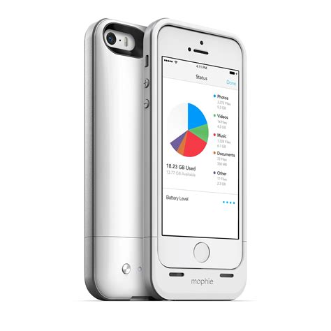 mophie spacepack battery w built in 32gb storage for iphone 5 5s se new ebay