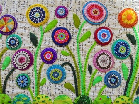 felt applique wendy s quilts and more quilt festival flower
