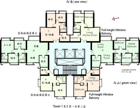 university floor plans floor plan of university heights gohome com hk