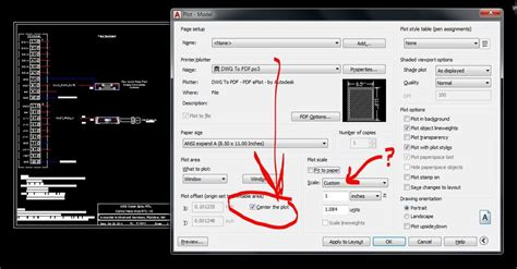 autocad view layout as print layout view printing off center autodesk community