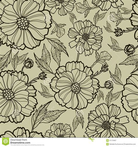 floral seamless pattern vector vector seamless floral pattern royalty free stock