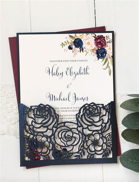 Wedding Invitations Navy by Navy And Burgundy Wedding Invitation From Of Creating