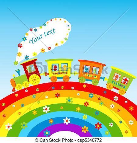testo arcobaleno clipart di arcobaleno treno testo illustrazione
