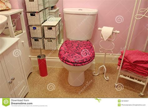 pink luxury modern luxury bathroom toilet suite stock image image
