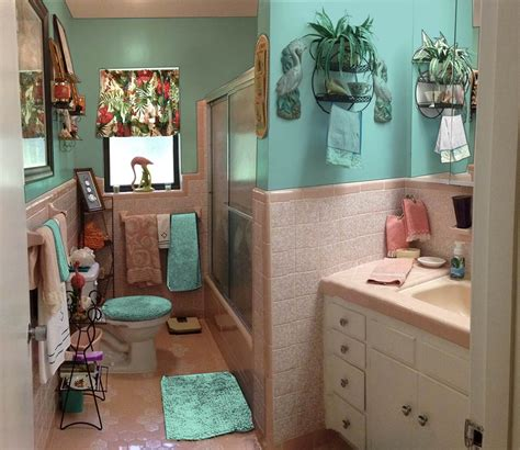 turquoise and pink bathroom retro design dilemma paint colors or wallpaper for diane