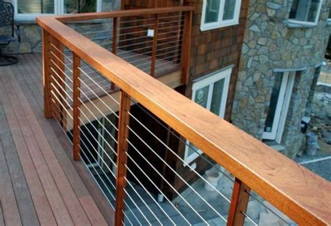 Decorative Deck Balusters 38 Edgy Cable Railing Ideas For Indoors And Outdoors