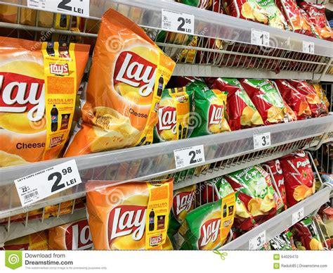 Snack Shelf by Fast Food Snacks For Sale On Supermarket Shelf Editorial