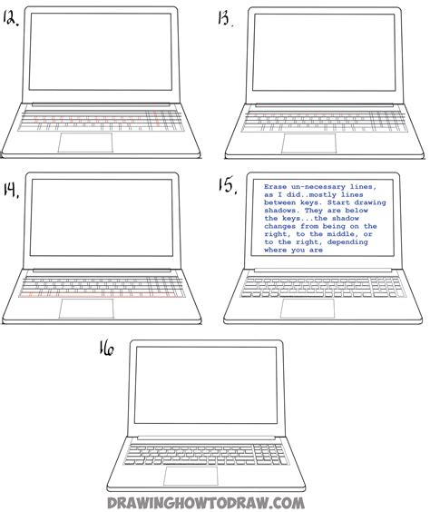 Drawing Laptop by How To Draw A Computer Laptop Using One Point Perspective