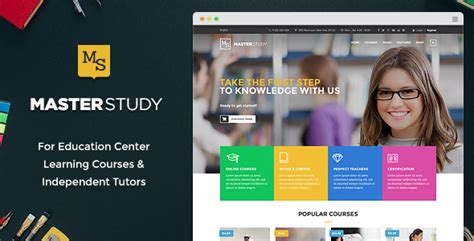 wordpress theme center layout masterstudy education center wordpress theme by