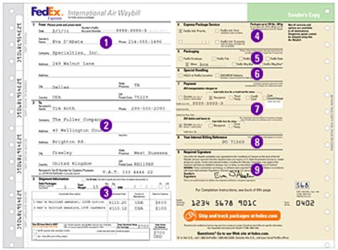how to complete shipping labels and shipping documents fedex