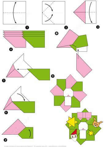 printable christmas origami paper origami christmas wreath tutorial free printable