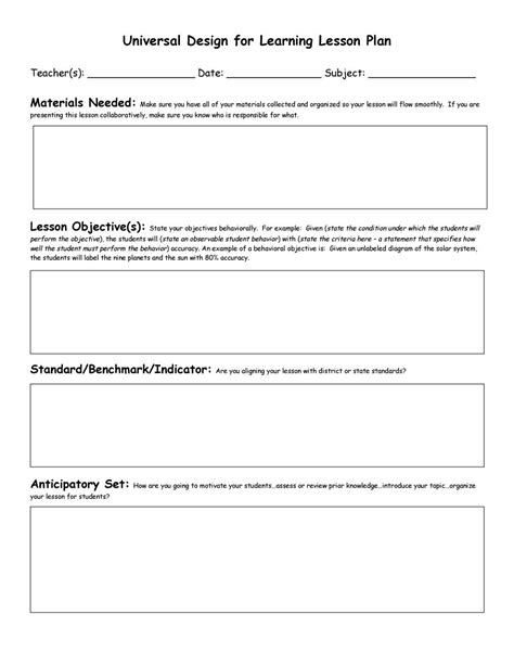 printable lesson plan template for first grade 44 free lesson plan templates common core preschool weekly