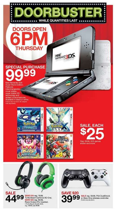 Target Gift Card Sale Black Friday - target s black friday 2016 deals nintendo everything