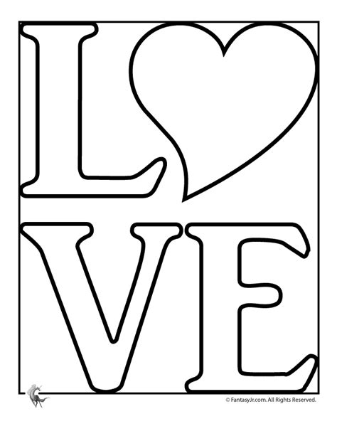 templates for word love love coloring pages to print coloring home