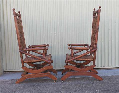 pair of rustic 19th century platform rocking chairs at 1stdibs