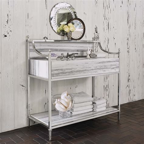 apron steel and marble sink chest western bath vanities