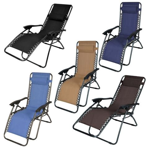 Reclining Lawn Chairs Folding by 1pc Folding Zero Gravity Reclining Lounge Chairs Outdoor