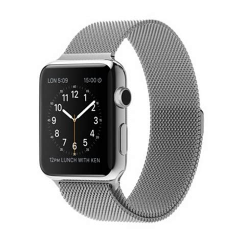 Milanese Loop Band & Link Bracelet Stainless Steel Strap for Apple Watch 42mm Silver   Alex NLD