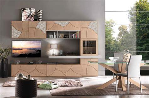 mobili soggiorno in legno massello parete attrezzata in legno massello